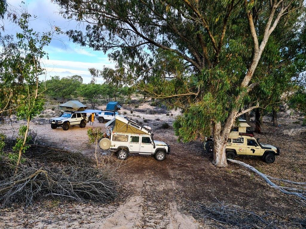Camping at Trekoskraal & a bush camp at Onder Water Boerskraal farm