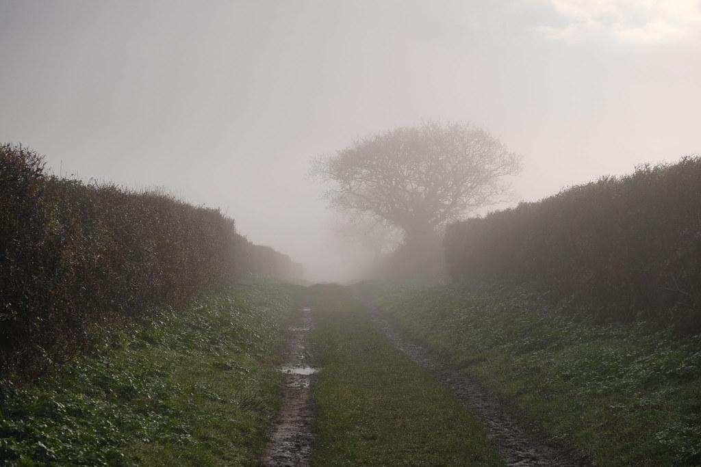 Misty walk to Hunstanton