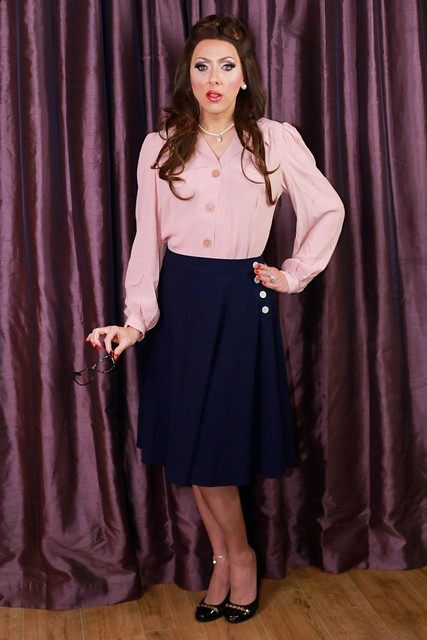 I actually had a little teary moment when I saw myself in the mirror in this outfit - it's an authentic 1940s blouse and skirt and I felt like I had fallen back in time...