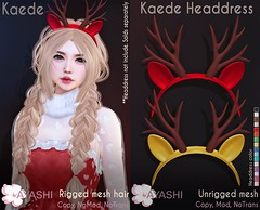 [^.^Ayashi^.^] Kaede hair & Headdress special for Santa Inc.