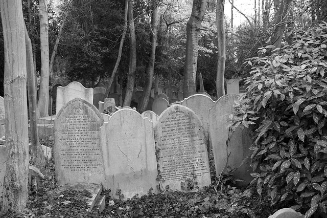The family graves no longer visited by relatives