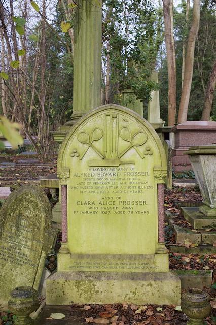 The gravestone of Alfred Edward Prosser