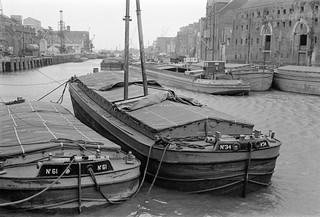 Barges, The Old Harbour, River Hull, Hull, 1977 12g41