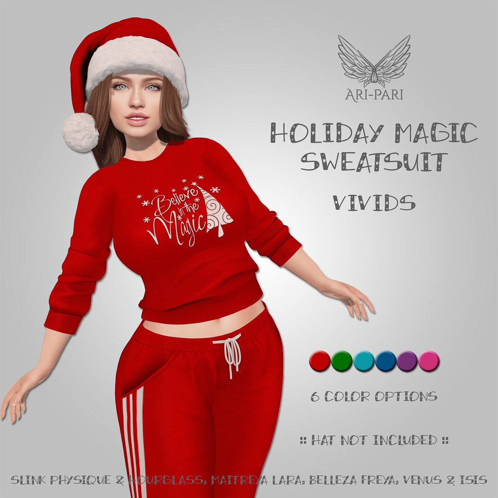 [Ari-Pari] Holiday Magic Sweatsuit – Vivids
