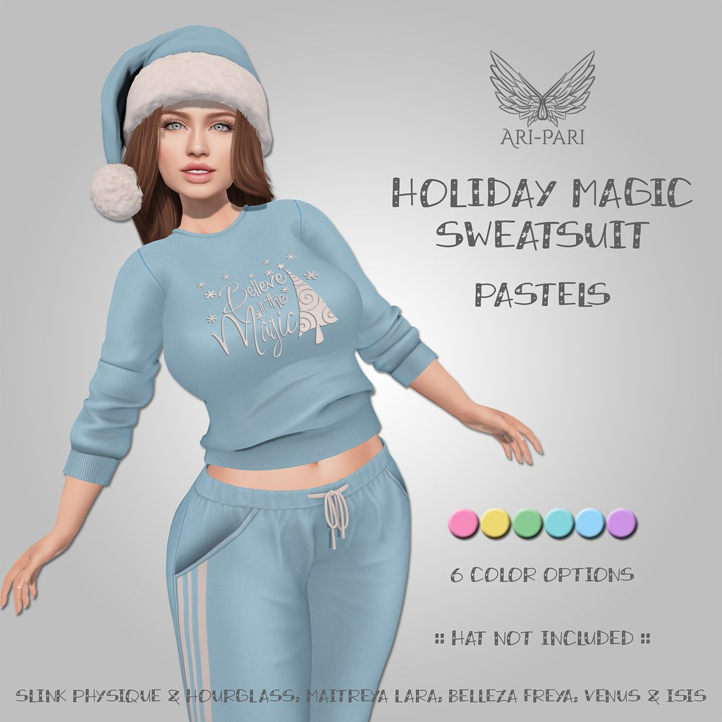 [Ari-Pari] Holiday Magic Sweatsuit – Pastels