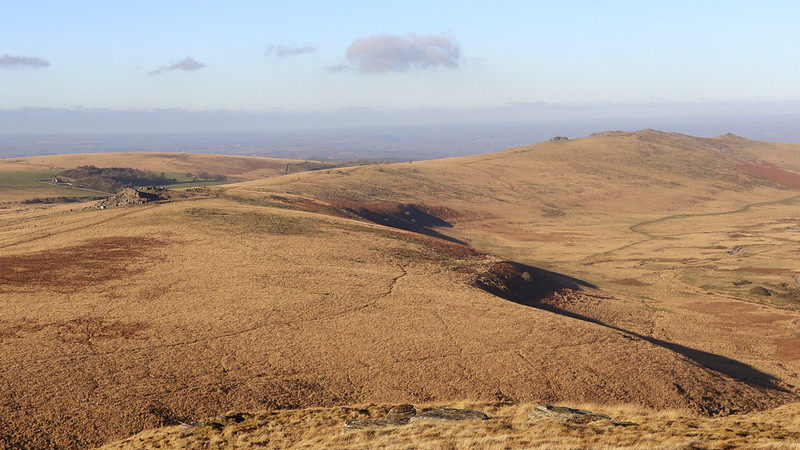 Oke Tor and the Belstone Ridge from Steeperton Hill