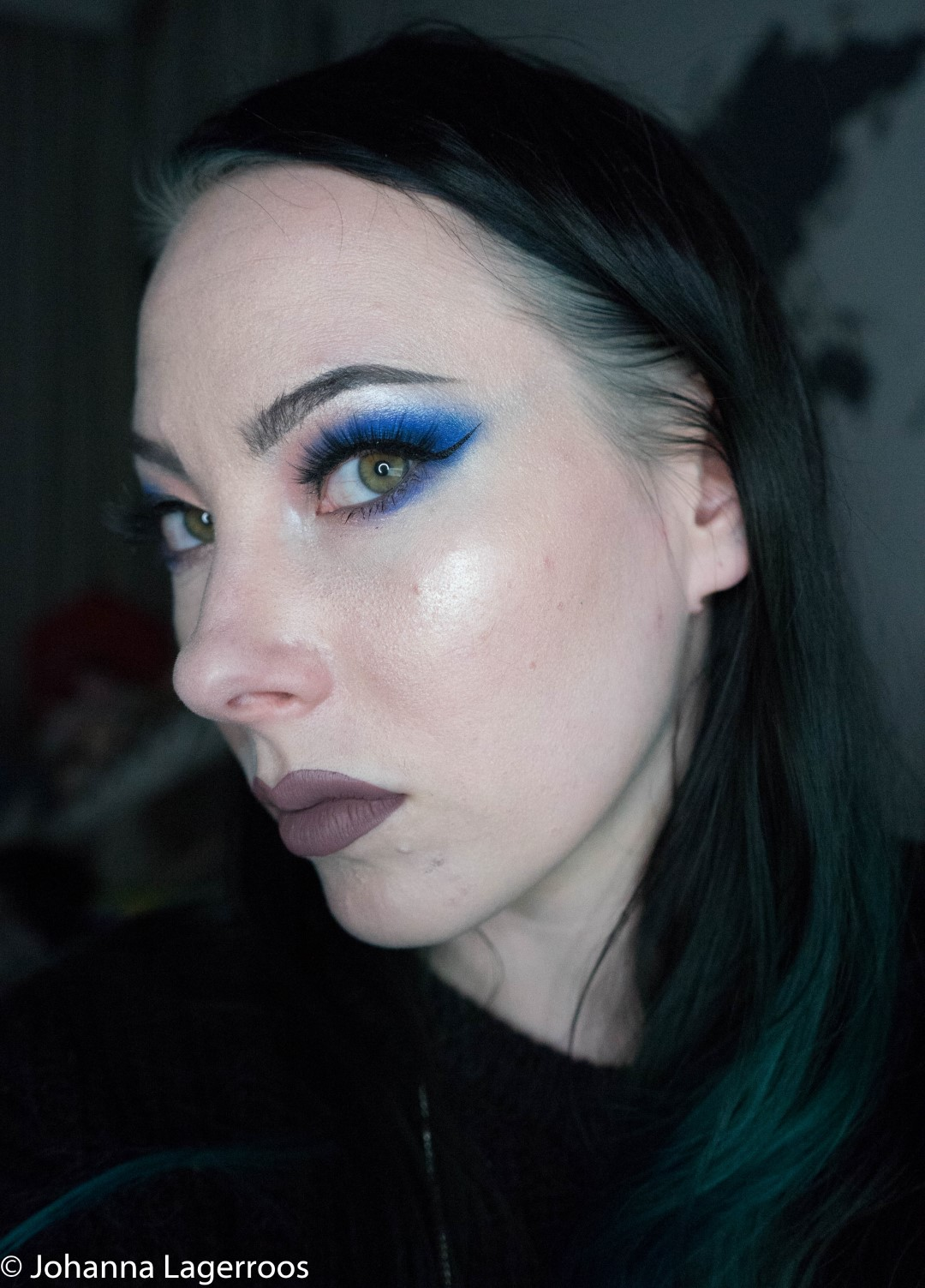 blue blood makeup look