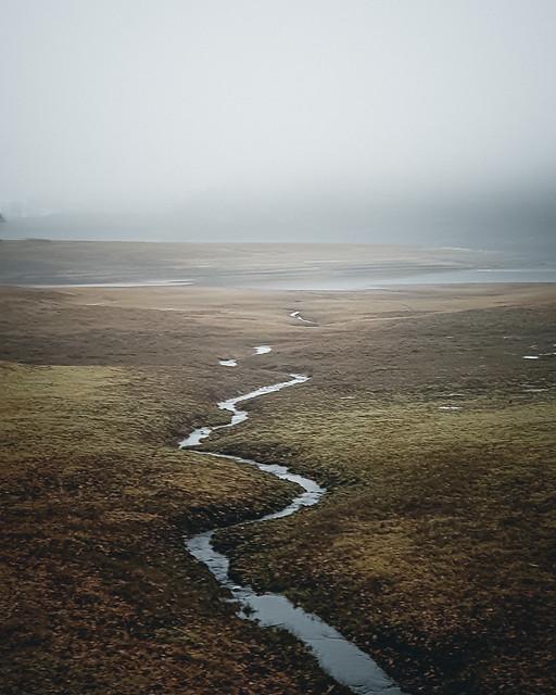 Foggy lake Möhne