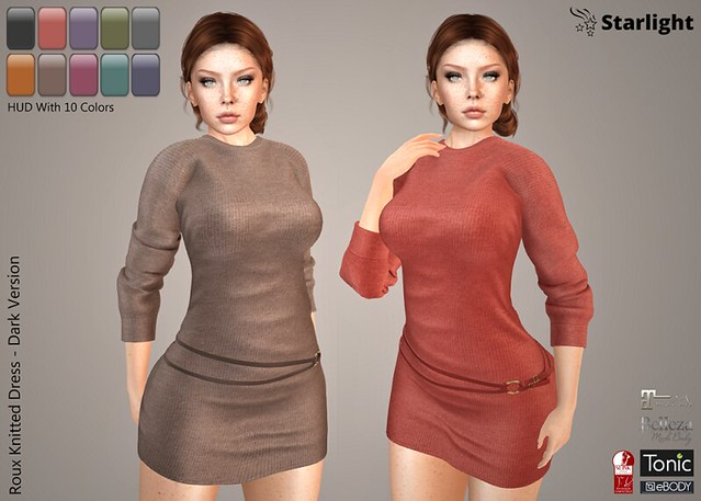 :: SA :: Roux – Knitted Dress with HUD – Dark Version