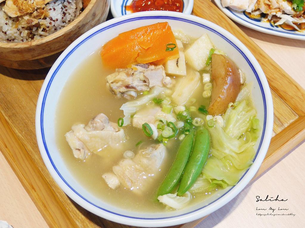 台北內湖一日遊好吃餐廳美食有素食推薦好好食房質感料理雞湯定食套餐 (5)