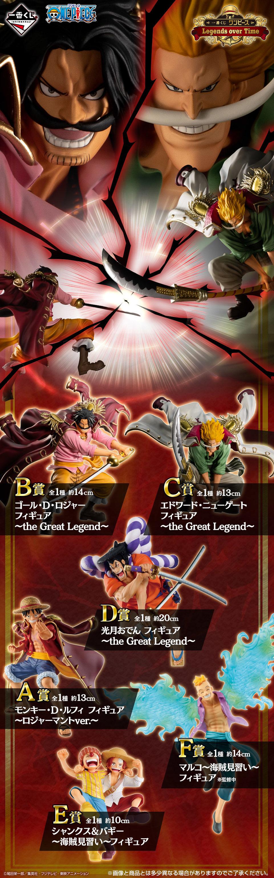 一番賞《航海王》Legends over Time 逝去的傳說參戰!海賊王與白鬍子猛烈的霸氣對撞!