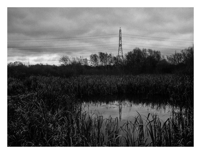 Pond and pylon