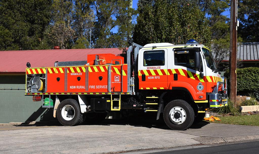 Fire Truck, Rural Fire Service, Winmalee, NSW.