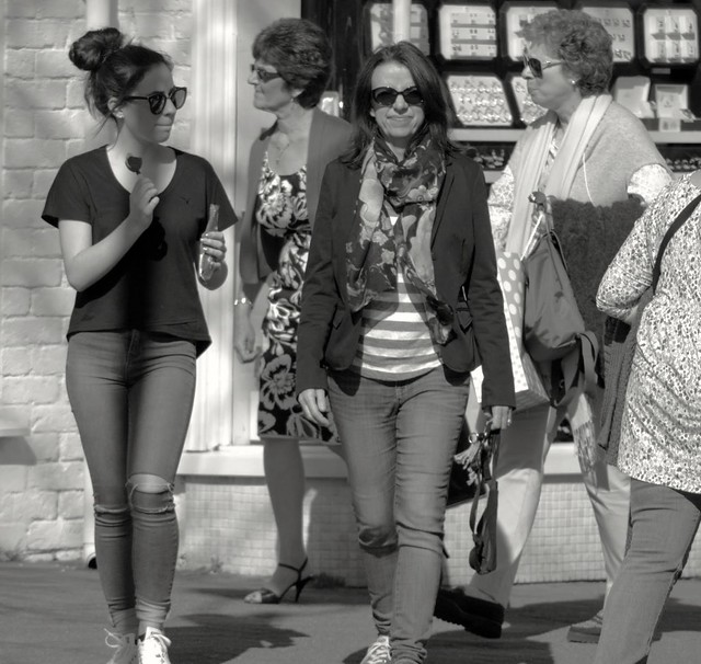 Ladies in shades at Lytham Lancashire
