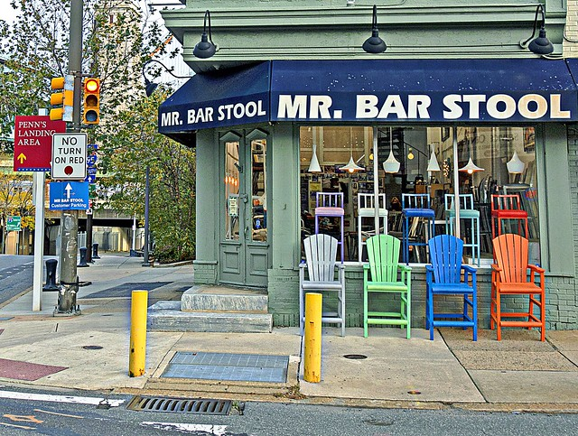 Happy Bench Monday!  Mr Bar Stool In Old City, Philadelphia (in Explore)