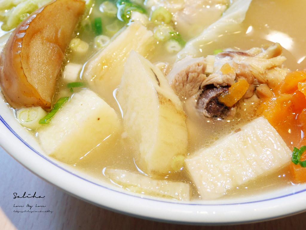 台北內湖一日遊好吃餐廳美食有素食推薦好好食房質感料理雞湯定食套餐 (1)