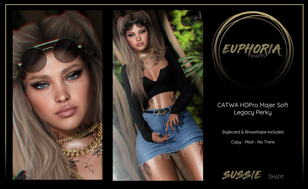 EUPHORIA Shapes - SUSSIE Shape ( CATWA HDPro - Majer Soft )