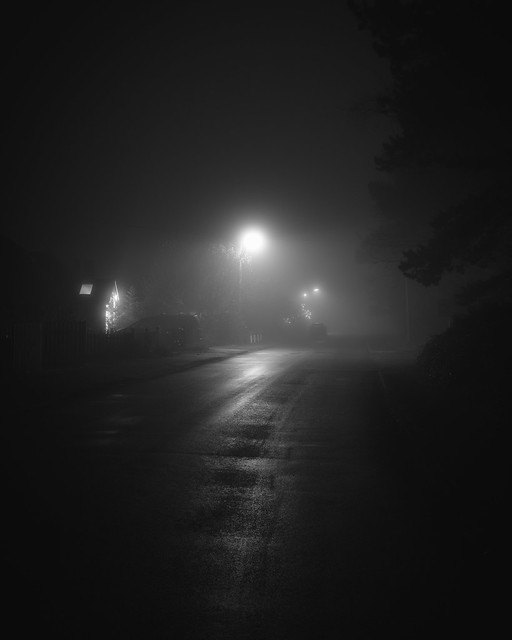A walk around the block in the fog