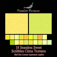 2020 Advent Gift Dec 7th - 18 Seamless Sweet Scribbles Citrus Timeless Textures