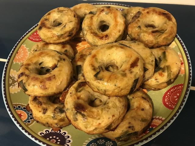 Donuts salés aux poireaux