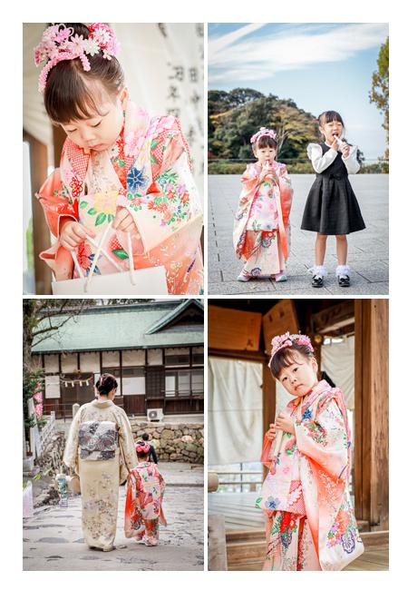 愛知県犬山市で七五三といえば針綱神社 3才の女の子