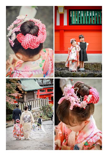 3歳の女の子の七五三 日本髪を結って