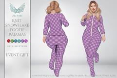 [Ari-Pari] Knit Snowflake Footie Pajamas