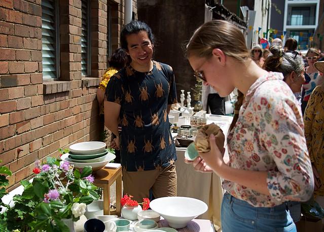 Street art craft market