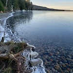 Sheguiandah Bay is starting to get slushy and icy.