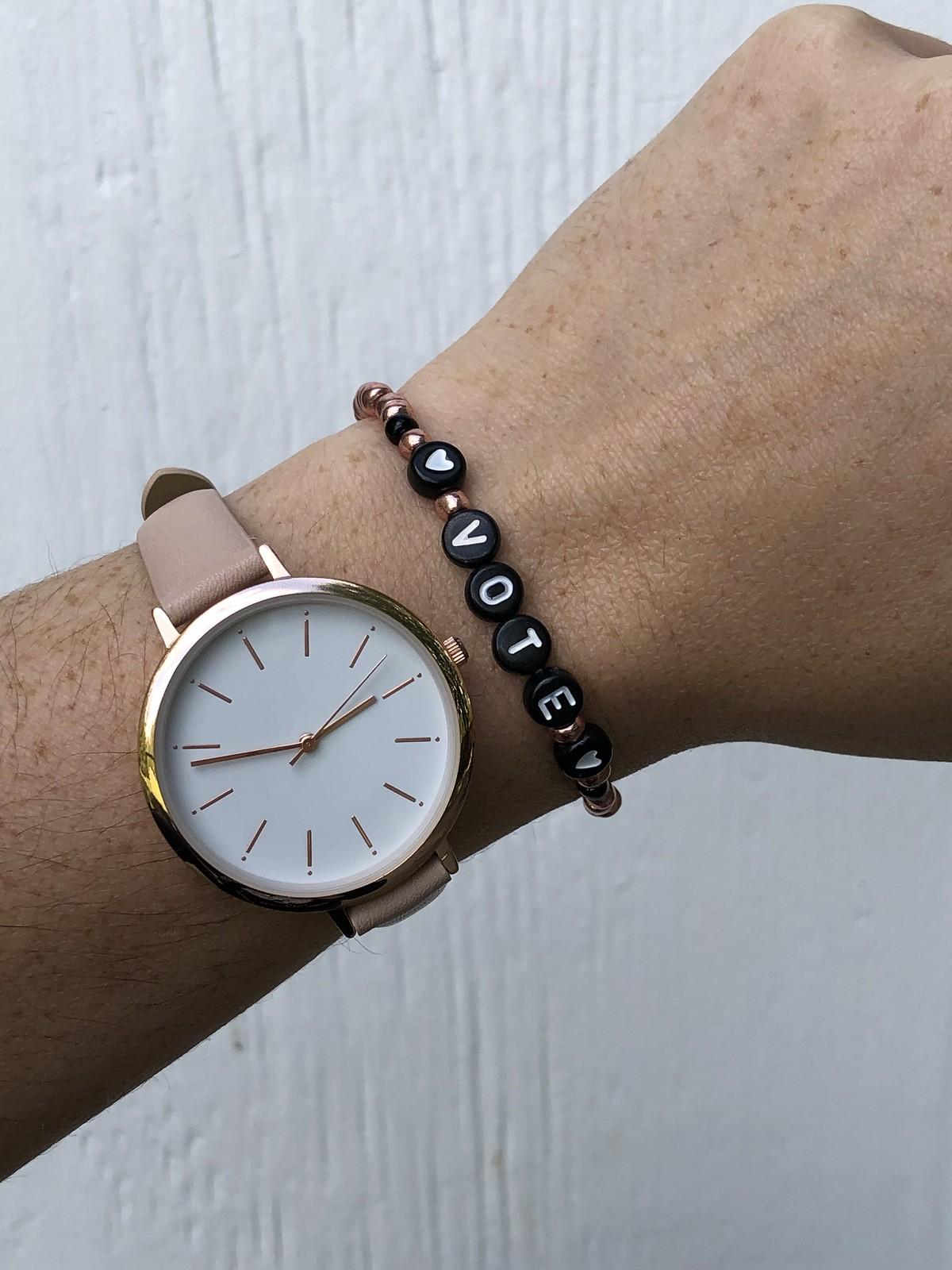 Vote bracelet on Etsy
