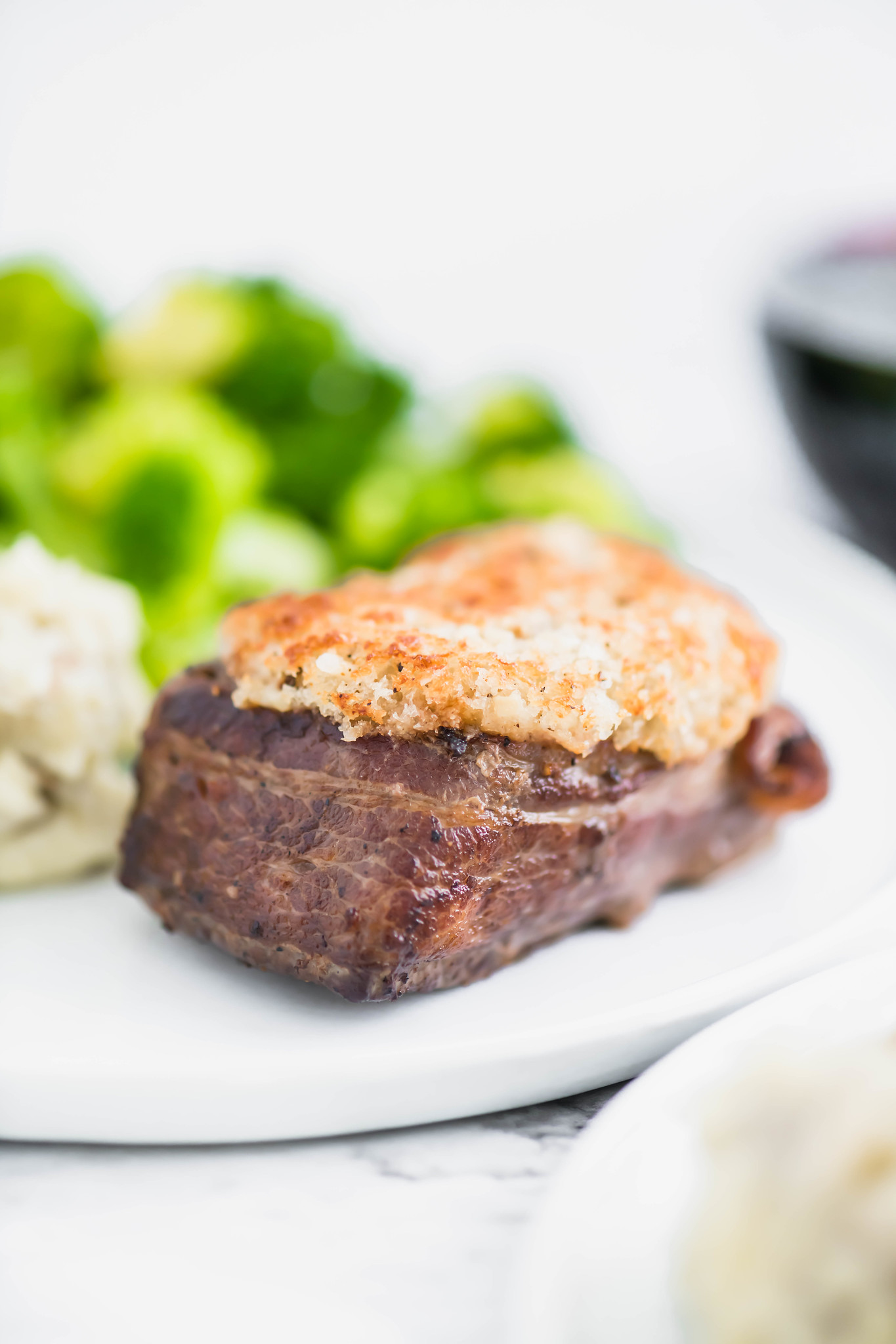 If you are having a small holiday celebration, this Parmesan Crusted Filet Mignon is a perfect option over a big traditional ham. Perfectly cooked and bursting with flavor.