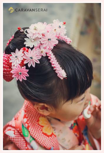 七五三 3歳の女の子 ヘアスタイルは日本髪