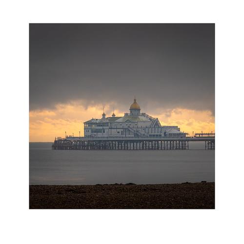 366 0712 eastbourne pier beach sea sunset