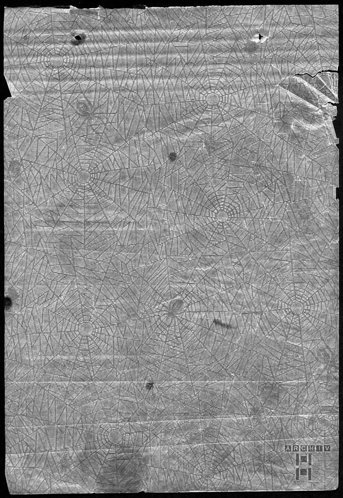ArchivTappenZAl2a830 Album, Spinnenpapier-Zwischenseiten, 1930-1940er