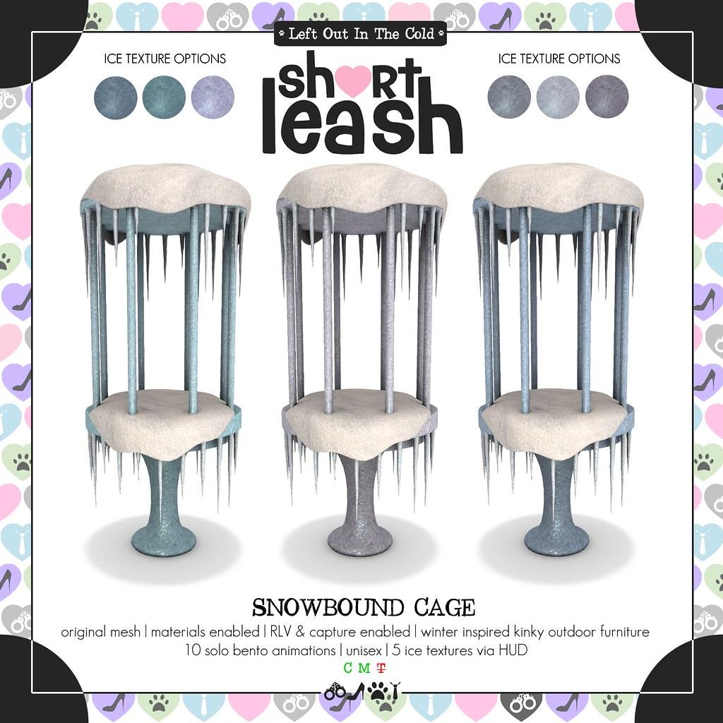 .:Short Leash:. Snowbound Cage