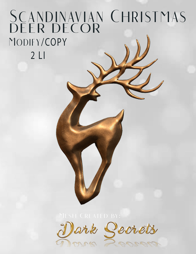 Dark Secrets – Scandinavian Christmas Deer Decor v
