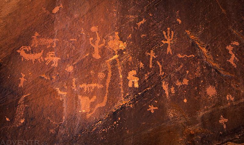 Small Petroglyph Panel
