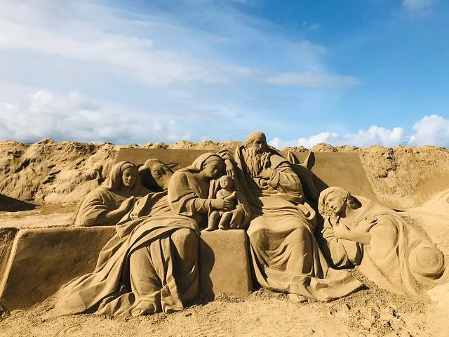 Belén de arena en playa de las Canteras