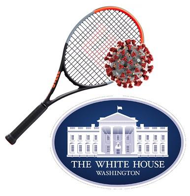 Melania Trump's Pandemic Pavilion. Tennis, Anyone?