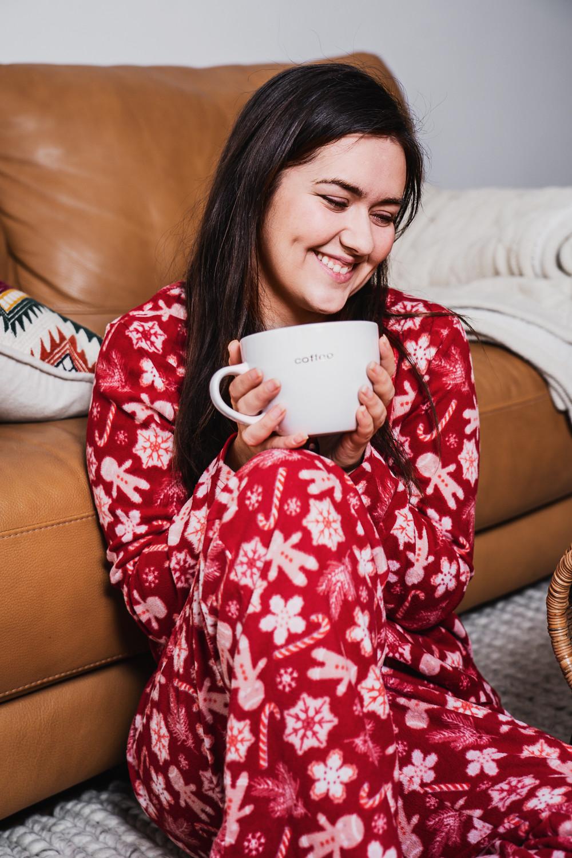 marie-chloé falardeau pyjama rouge