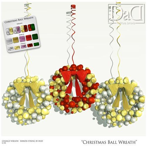 Christmas Ball Wreath - Group Gift
