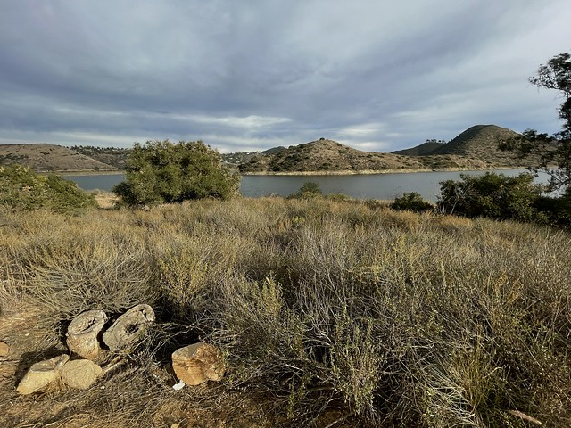 Lake Hodges on a windy afternoon