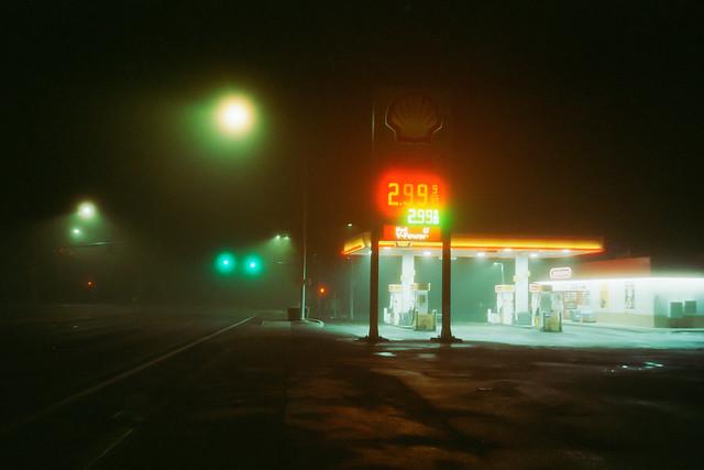 one moody, misty evening
