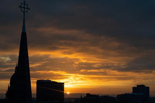 leeds leedscitycentre city uk morning england sun sunrise dawn unitedkingdom yorkshire citycentre