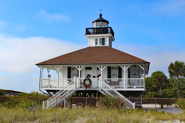 Port Boca Grande Lighthouse at christmas