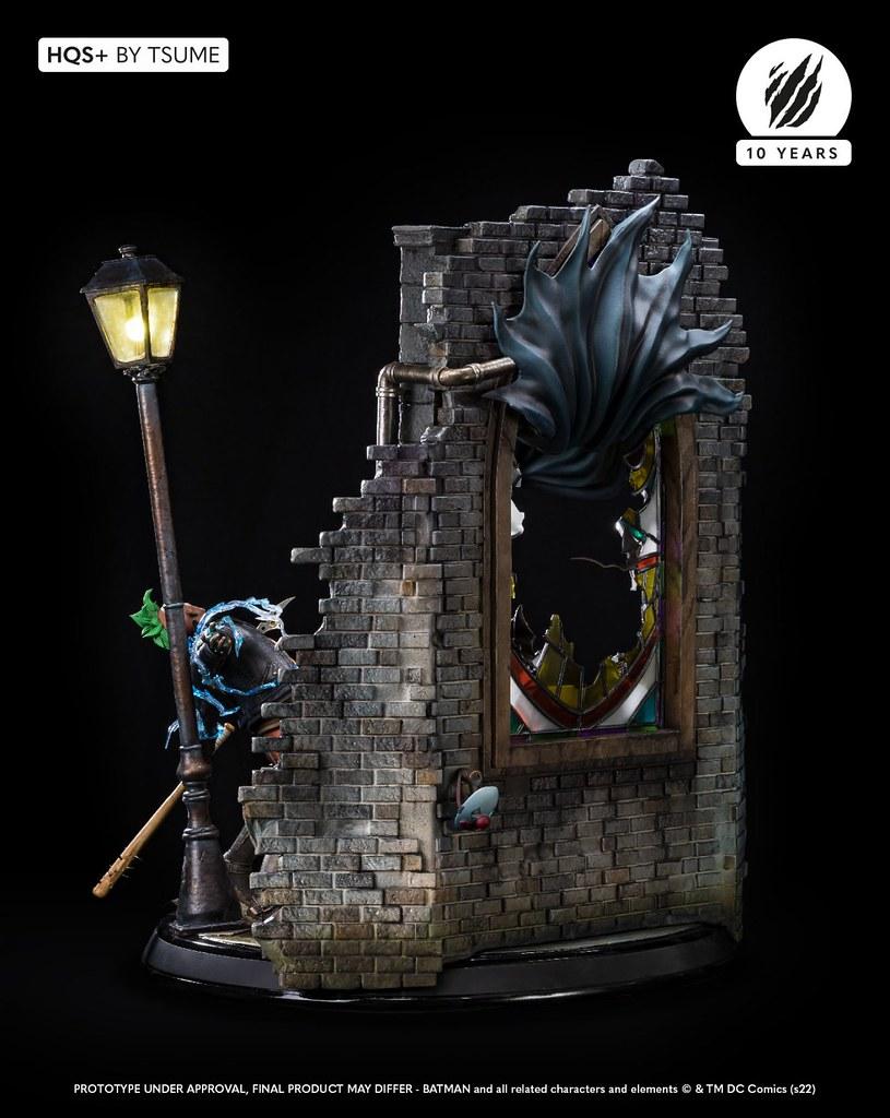破窗打擊罪犯的精彩躍動!Tsume-Art HQS+系列《蝙蝠俠》蝙蝠俠 1/6比例場景限量雕像