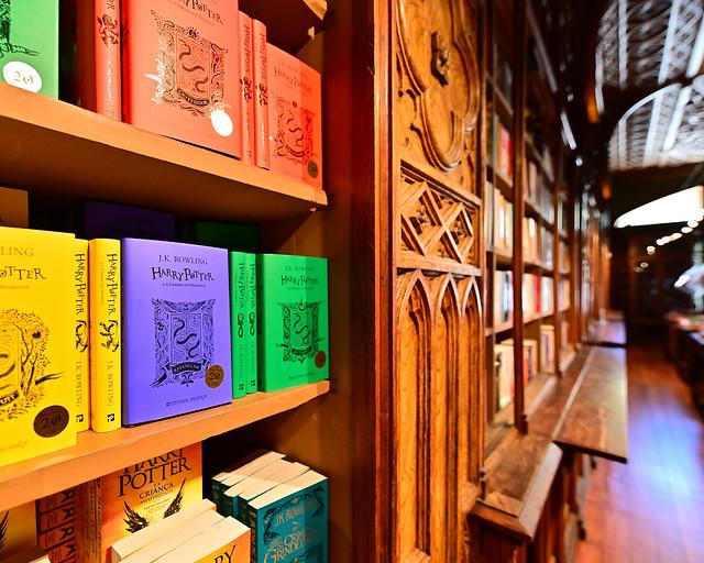 Libros de Harry Potter en la librería Lello