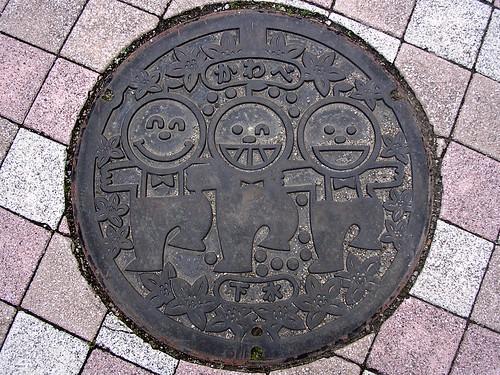 Kawabe Wakayama, manhole cover 2 (和歌山県川辺町のマンホール2)