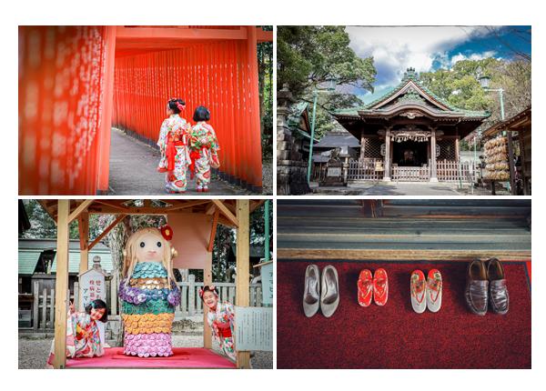 深川神社で七五三 アマビエの像 愛知県瀬戸市