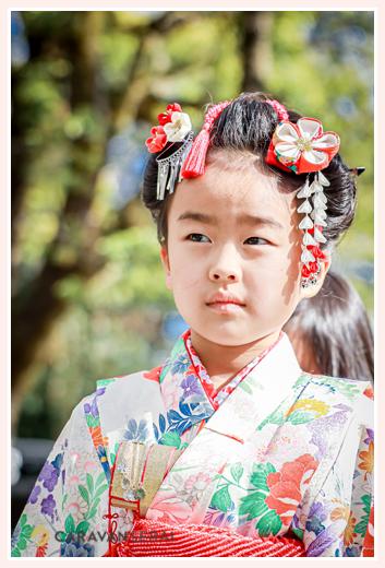 七五三 7歳の女の子 日本髪(地毛で)